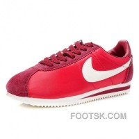 Nike Cortez Nylon Women Shoes Dark Red Cheap To Buy