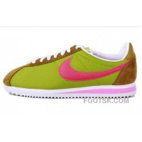 Nike Classic Cortez Nylon Womens Green Brown Red Top Deals