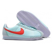 Nike Classic Cortez Nylon Womens Baby Blue Red For Sale