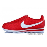 Nike Classic Cortez Nylon Womens All Red White Free Shipping