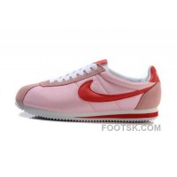 Nike Classic Cortez Nylon Womens Baby Pink Red Discount