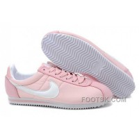 Nike Classic Cortez Nylon Womens Baby Pink White For Sale