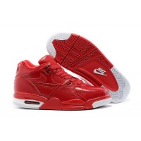 Nike Air Flight '89 Red Leather Basketball Shoes Top Deals