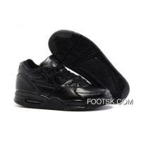 Super Deals Nike Air Flight '89 All Black Leather Basketball Shoes