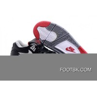 "Nike Air Flight '89 ""Bred"" Black/Cement Grey-Fire Red-White Shoes New Style"
