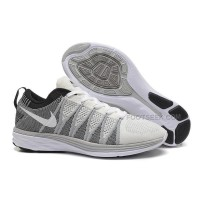 Nike Flyknit Lunar 2 Mens Silver White Gray Running Shoes