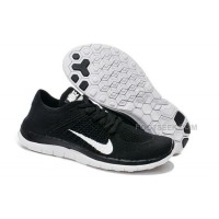 2015 Nike Free Flyknit 4.0 Womens Running Shoes Newest On Sale Couples Sneaker Black White