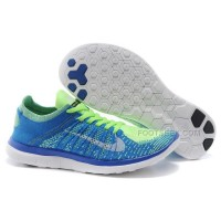 2015 Nike Free Flyknit 4.0 Womens Running Shoes Newest On Sale Couples Sneaker Sky Blue Grass