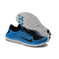 2015 Nike Free Flyknit 4.0 Mens Running Shoes Newest On Sale Couples Sneaker Blue Black