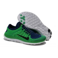 2015 Nike Free Flyknit 4.0 Mens Running Shoes Newest On Sale Couples Sneaker Green Blue
