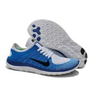 2015 Nike Free Flyknit 4.0 Mens Running Shoes Newest On Sale Blue Gray