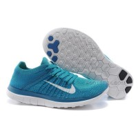 2015 Nike Free Flyknit 4.0 Mens Running Shoes Newest On Sale Baby Blue