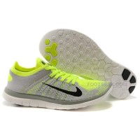 2015 Nike Free Flyknit 4.0 Mens Running Shoes Newest On Sale Couples Sneaker Lime Green Grey