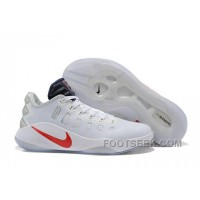 Nike Hyperdunk 2016 Low White Red For Fall