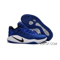 Nike Hyperdunk 2016 Low Game Royal -Black/White Men's Basketball Shoes New Release STh3H