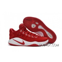 Nike Hyperdunk 2016 Low Red White Men's Basketball Shoes Top Deals CKfnG