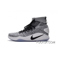 'Oreo' Nike Hyperdunk 2016 Flyknit Black/White Free Shipping ISaw8DH