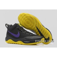 Nike HyperRev Black/Purple Yellow Men's Basketball Shoes New Style DNr5W