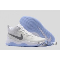 Nike Hyperrev White/Silver Men's Basketball Shoes Top Deals TDrkP54