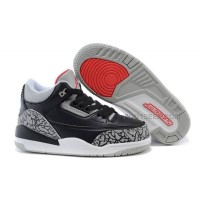 Air Jordan III 3 Kids Black Cement Black/Varsity Red-Cement-White Hot Sale