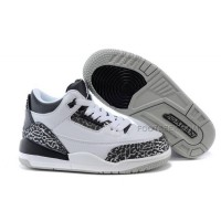 Cheap Jordan 3 Kids Metallic Silver For Wolf Grey / Metallic Silver-Black-White Hot Sale