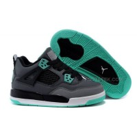 Kid Jordan 4 Shoes IV Green Glow -Dark Grey/Green Glow/Cement Grey/Black Hot Sale