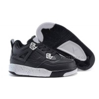 "Cheap Kids Jordan 4 Retro ""Oreo"" Black Tech Grey Black Hot Sale"