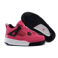 Kid Jordan IV (4) Voltage Cherry White-Black Pink Hot Sale