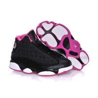 Kids Jordan 13 Black Hyper Pink White Free Shipping Hot Sale