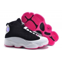 Kids Jordan 13 Hyper Pink Black White Free Shipping