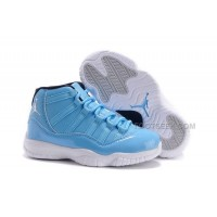 Kids Jordan 11 XI University Blue/Black-White New Arrival