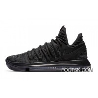 Nike KD 10 Triple Black Men Discount