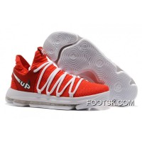 Nike KD 10 EP University Red White New Year Deals