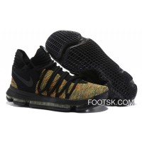 Online Nike KD 10 Black Gold Men Shoes Kevin Durant