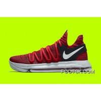 New Nike KD 10 University Red Black Copuon Code