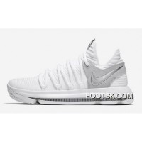 New Nike KD 10 'Still KD' White/Chrome Pure Authentic
