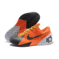 Nike KD Trey 5 Mens Orange Gray Free Shipping A2Att
