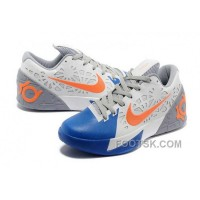 Christmas Deals Nike KD Trey 5 Mens White Blue Orange SmtM5
