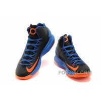 Nike KD V Away Mens Black Sapphire Blue Orange Super Deals Kc3Es