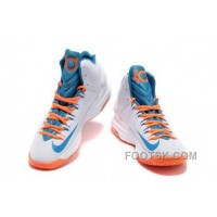 Nike KD V Mens White Blue Cheap To Buy MtafzF