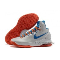 Authentic Nike Zoom KD V Mens White Blue Orange Zdrt2