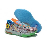 Nike KD 6 Limited Edition Grey Green Blue Mens Shoes Discount