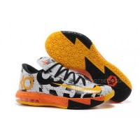 Nike KD 6 MVP White Black Orange Mens Shoes Discount