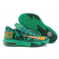 Nike KD 6 Easter Jade Orange Mens Shoes Discount