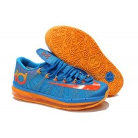 Nike KD 6 Elite Series Blue-Team Orange Discount