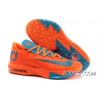 Nike Kevin Durant KD 6 VI Total Orange/Neo Turquoise Top Deals