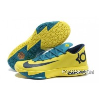 "Authentic Nike Kevin Durant KD 6 VI ""Seat Pleasant"" Yellow/Teal"