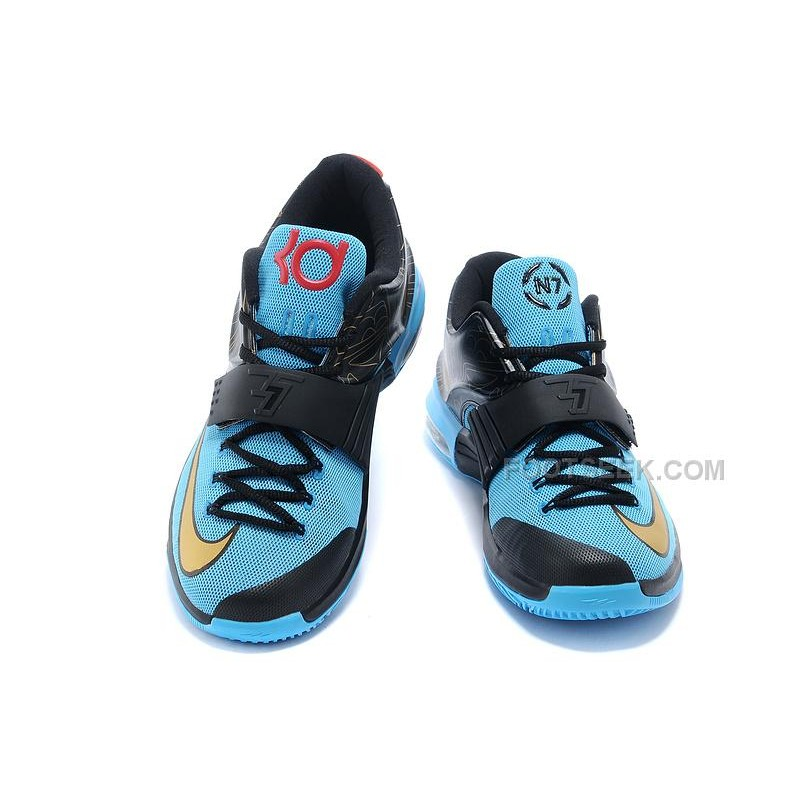 "a9417565acf3 Cheap Nike KD 7 (VII) ""N7″ Photo Blue Black-Metallic Gold-Red For ..."
