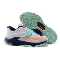Nike Zoom KD 7 White Navy Orange Discount Online