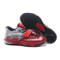 Nike KD 7 Lightning Uprising Red/Black-Grey Discount Online